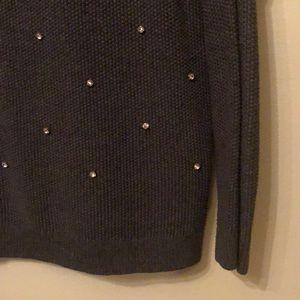 Grey Sweater with (fake) Diamonds!
